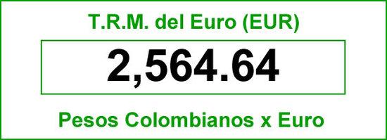 TRM euro para hoy 2014-06-20