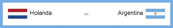 Semifinal: Argentina versus Holanda hoy miercoles 9 de julio de 2014