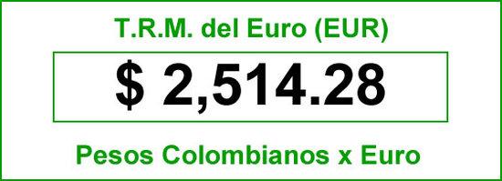 TRM del Euro hoy martes 2014-07-08