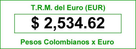 TRM Euro del miércoles 16 de 2014