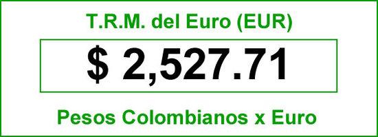 TRM Euro hoy viernes 11 de Julio de 2014
