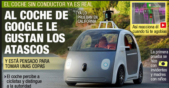 Tecnología del Carro de Google sin conductor