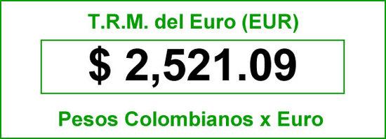 TRM euro para hoy 5 de agosto de 2014