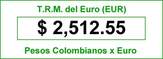 TRM Euro para hoy viernes 15 de Agosto de 2014