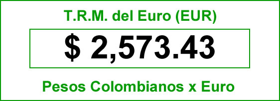 TRM euro hoy martes 30 de septiembre de 2014