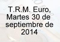 TRM Euro Colombia, martes 30 de septiembre de 2014