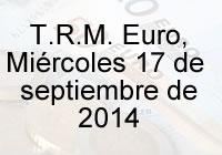 TRM Euro Colombia, miércoles 17 de septiembre de 2014