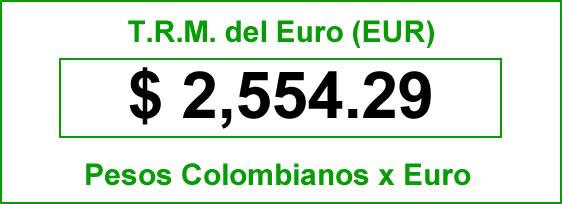 trm euro para hoy miércoles 01 de octubre de 2014