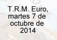 TRM Euro Colombia, martes 7 de octubre de 2014