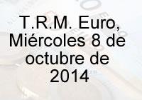 TRM Euro Colombia, miércoles 8 de octubre de 2014