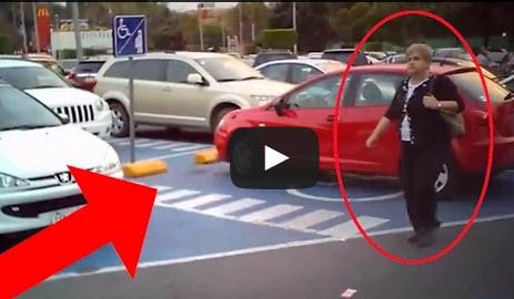 Los descubrieron infraganti estacionando en zonas para Discapacitados y así respondieron cuando les preguntaron por qué