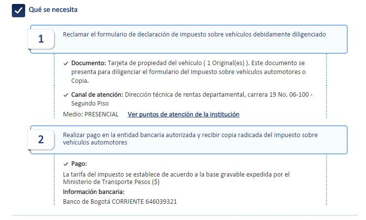 Impuestos de carros y motos de Yopal Casanare
