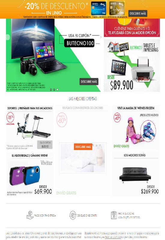 Pagina web oficial www.linio.com