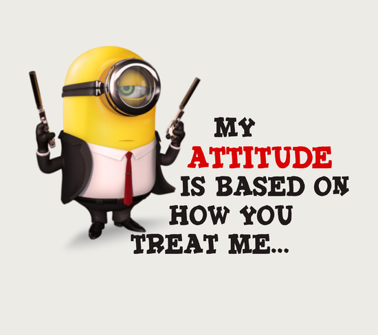 Descargar imágenes de fondo para whatsapp Minion Attitude