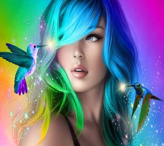 Descargar imágenes de fondo para whatsapp colorful beauty