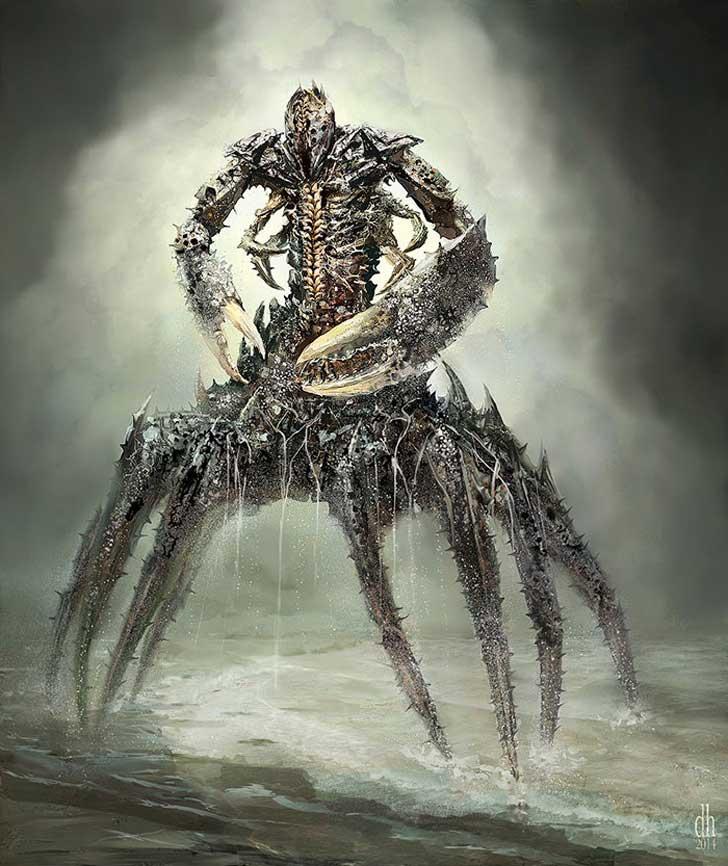 fantásticos monstruos del zodiaco digital art damon hellandbrand acuario Cancer