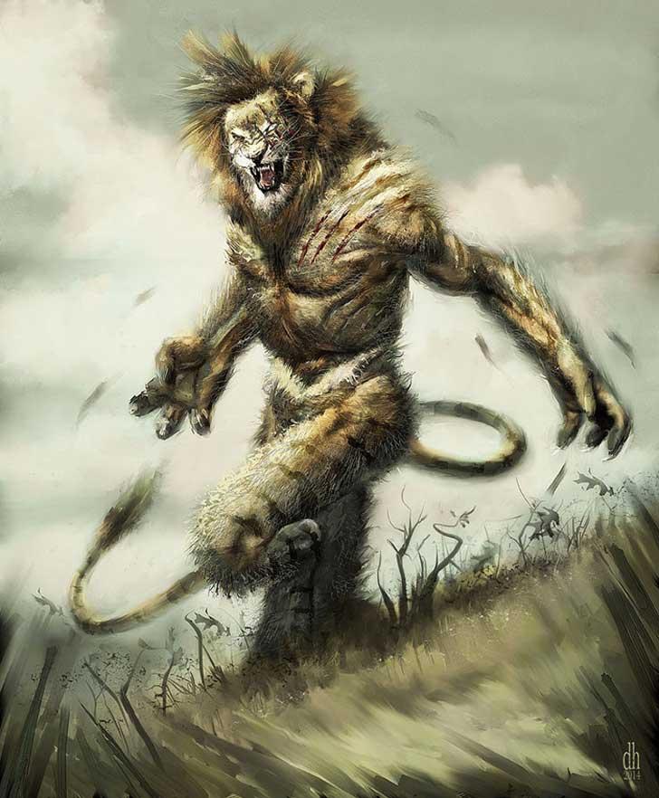 Fantásticos monstruos del zodiaco digital art damon hellandbrand acuario Leo
