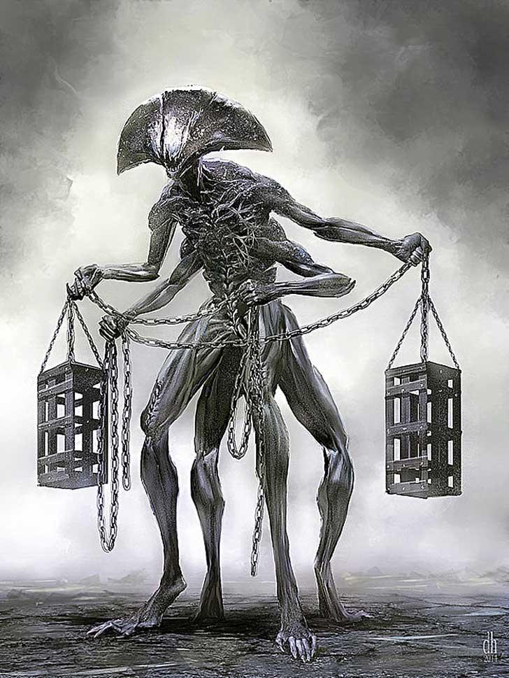 fantásticos monstruos del zodiaco digital art damon hellandbrand Libra