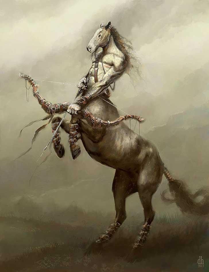 Fantásticos monstruos del zodiaco digital art damon hellandbrand  Sagitario