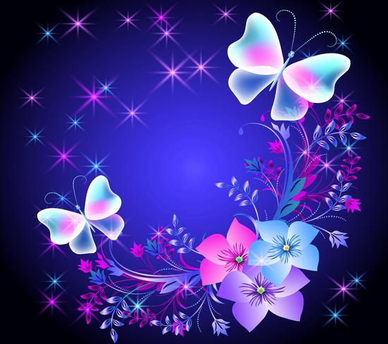 Descargar imágenes de fondo para whatsapp floral butterflies
