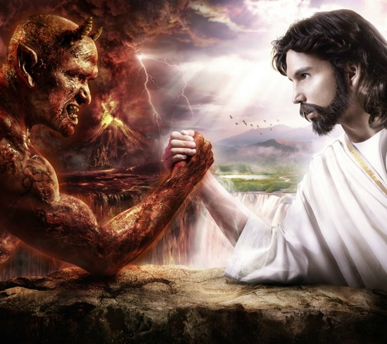 Imagen de fondo para Whatsapp de Jesús  god vs devil hd