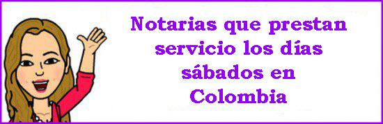 Listado de notarias de turno en Colombia 2016