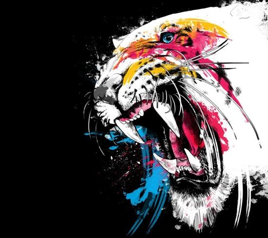 Imagenes de fondo para whatsapp white tiger colorfull