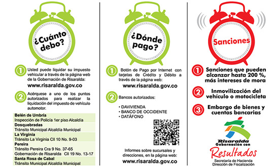 Pago de impuestos de vehiculos en Pereira Risaralda