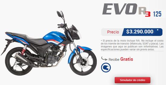Precio-AKT-evo-r3-125