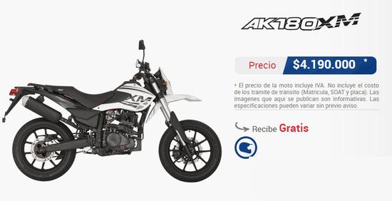 Precio-moto-akt-ak-180-xm