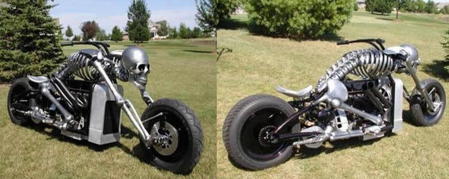 10 motos raras en forma de calavera