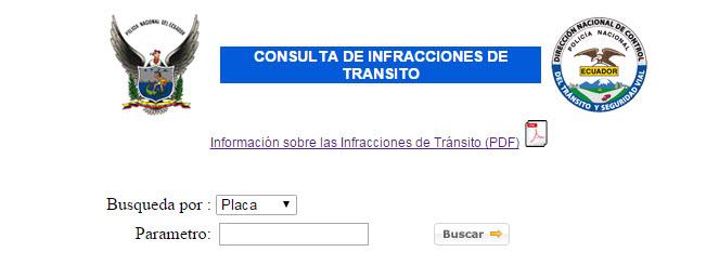 Verificar la Licencia o placa, para consultar multas de transito en Ecuador