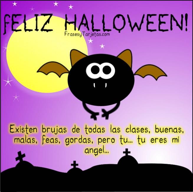 Mensajes, frases y tarjetas de feliz halloween murcielago