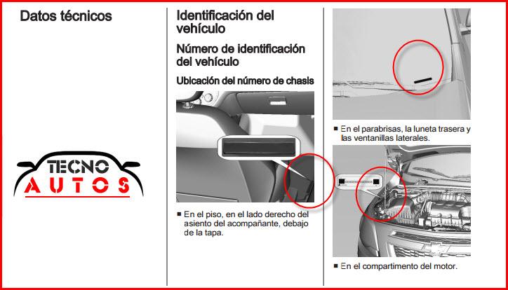 Improntas del motor y chasis del chevrolet cobalt 2013