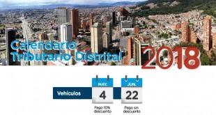 Liquide impuesto de vehiculo por placa en Bogotá 2018