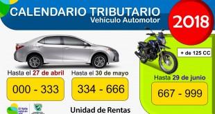 Pago de impuesto de vehículo fechas
