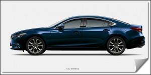 Vista Mazda 6 Color azul metálico