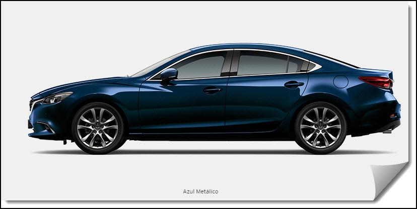 Mazda 6 Color azul metálico