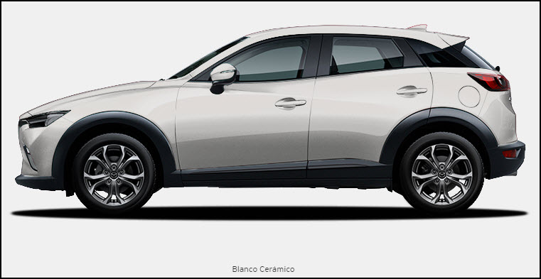 Vista de Mazda CX3 color Blanco Cerámico