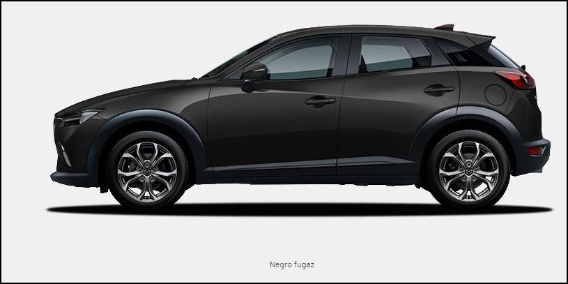 Vista de Mazda CX3 color Negro Fugaz