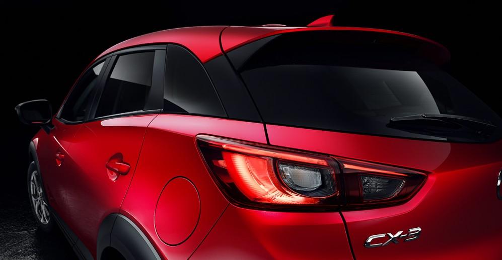 Vista trasera Mazda CX3
