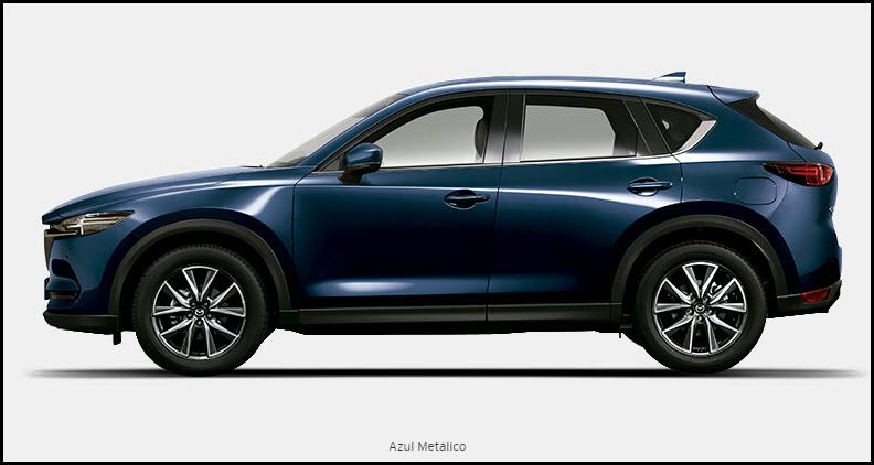 Vista de Mazda CX5 color azul metálico