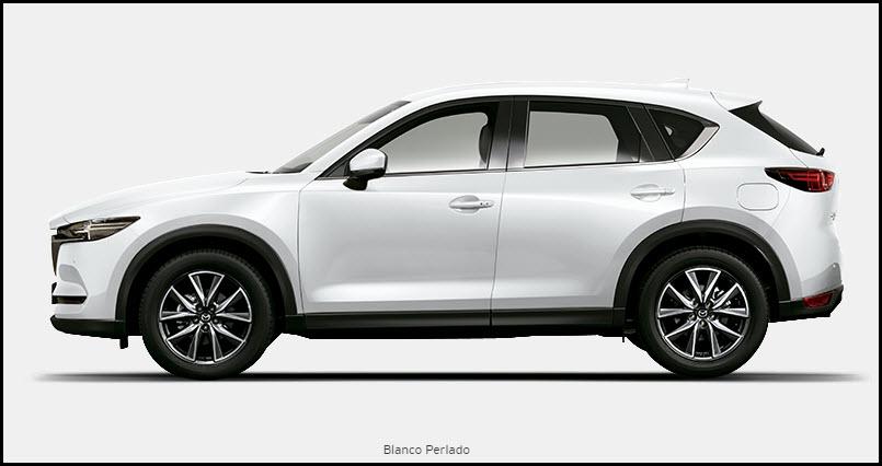 Vista de Mazda CX5 color Blanco Perlado