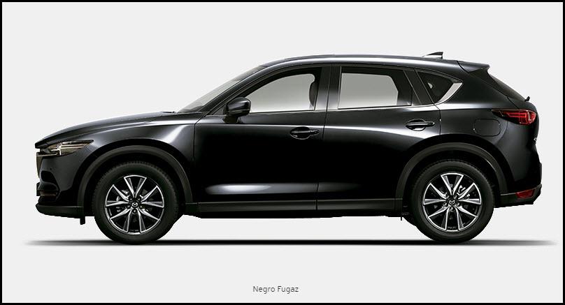 Vista de Mazda CX5 color Negro Fugaz