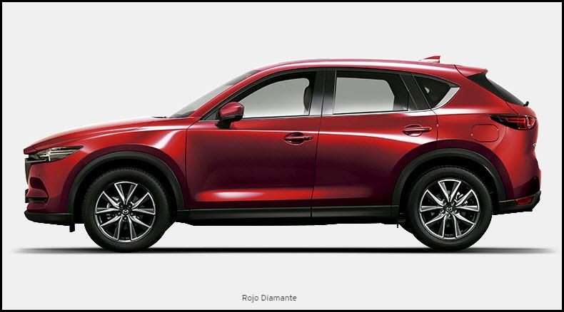 Vista de Mazda CX5 color Rojo Diamante