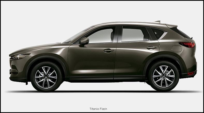 Vista de Mazda CX5 color Titanio Flash