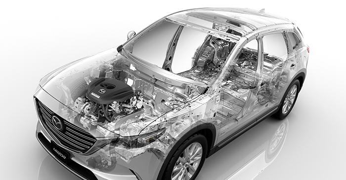 Vista interior de Mazda CX9