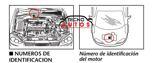 identificador motor y chasis chevrolet optra 2005