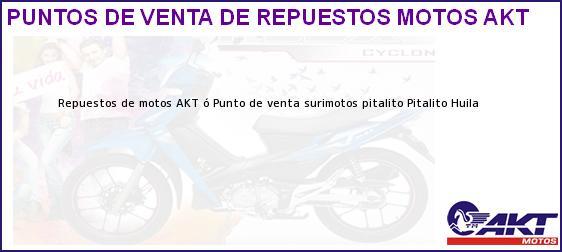 Teléfono, Dirección y otros datos de contacto para repuestos de motos AKT ó Punto de venta surimotos pitalito, Pitalito, Huila, Colombia