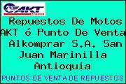 Repuestos De Motos AKT ó Punto De Venta  Alkomprar S.A. San Juan Marinilla Antioquia